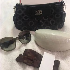 Authentic Coach Sunglasses & Mini Purse